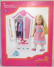 """18/"""" Doll WOOD ARMOIRE Wardrobe Closet Set for Our Generation American Girl Boy"""