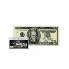 100 Large Bill Holder Size USA! BCW Deluxe Vinyl Semi-Rigid Currency Holders