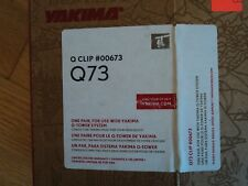 Yakima Q51 Q Tower Clips w// A Pads /& Vinyl Pads #00651 2 clips Q 51 NEW in box