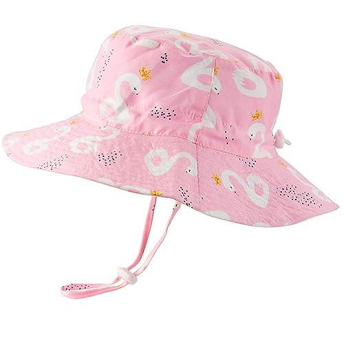 45508a43c Baby Sun Hat Adjustable - Outdoor Toddler Swim Beach Pool Hat Kids UPF 50+  Wide Brim Chin Strap Summer Play Hat