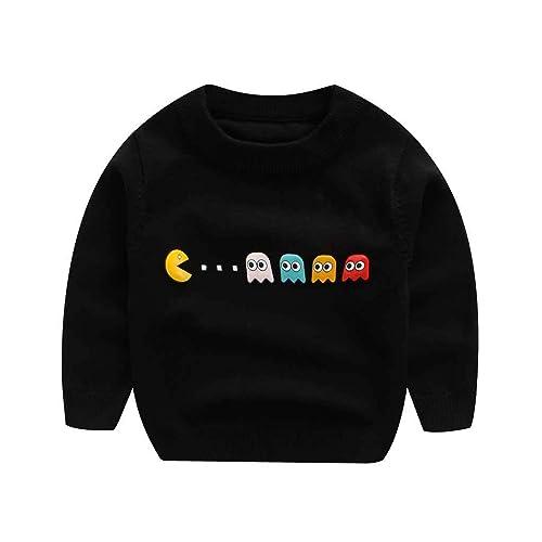 RJXDLT Kids Cute Cartoon Shirts Long Sleeve Cotton Crew Neck Pullover Tops