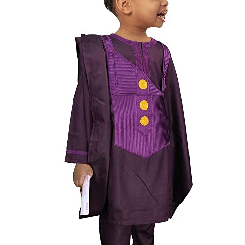 HD African Clothing Embroidery Agbada Robe Dashiki Shirt Mens Boubous Outfits 3 Pieces /…