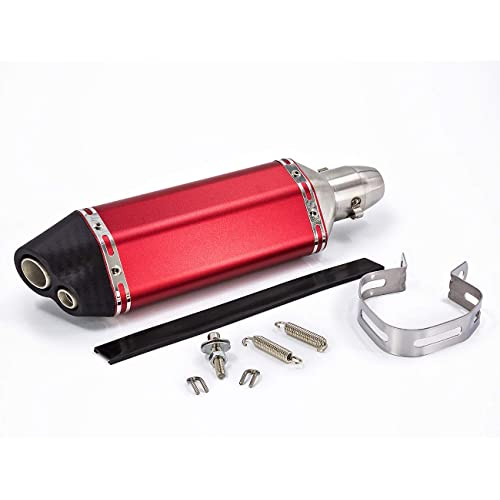 "Universal 1.5-2/"" Inlet Motorcycles Exhaust Muffler with Removable DB Killer Stainless Steel Dirt Bike Street Bike Scooter ATV"