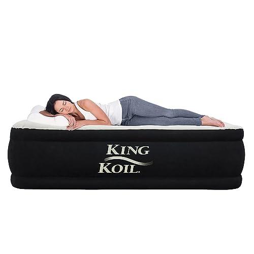 King Koil Queen Air Mattress With, Air Bed Queen Size Mattress