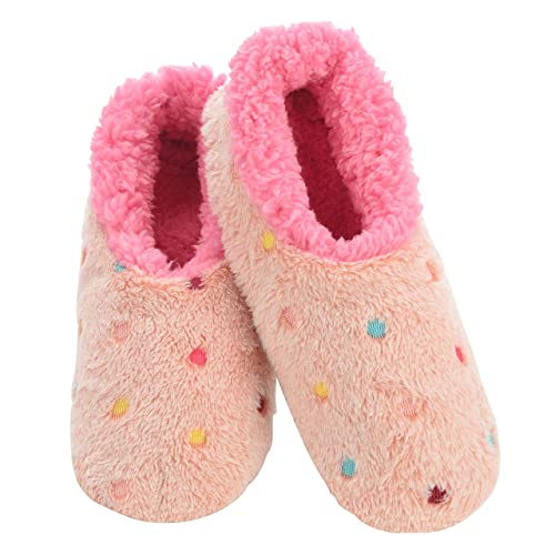 Cozy Slippers for Women Lotsa Dots Colorful Cozy Sherpa Slipper Socks Snoozies Slippers for Women Colorful Womens Fuzzy Slippers Womens House Slippers