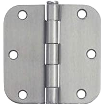 37595 Cosmas Flat Black Door Hinge 3.5 Inch x 3.5 Inch with 1//4 Inch Radius Corners 24 Pack