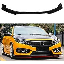 MotorFansClub 3pcs Front Bumper Lip for Infiniti Q50 2014-2017 Base Model Splitter Trim Protection Spoiler Carbon Fiber