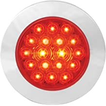 Grand General 78553 Amber//Red Double Faced 16 LED Light with Chrome Die Cast Housing and Clear Lens
