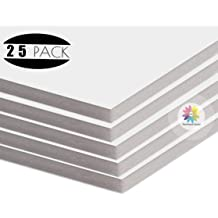 Prints Prints and More Photos Full Sheet Mat Board Center 25-Pack for Art 16x20 Uncut Boards Mixed Color