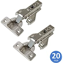 10pcs clip-on soft close inset  hinges for face framed cabinet door