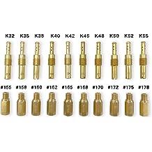115 130 NAVARME 10 pcs Carburetor Main Jet kit #100 105 108 135 110 120 125 140 for GY6 125cc 150cc Carburetor Carb CVK