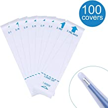 Healifty 100pcs Disposable Digital Thermometer Covers Sterile Universal Thermometer Probe Covers for Hospital Clinic and Health Center