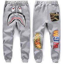 Mens Sports Casual Sweat Pants Trousers Bape A Bathing Ape Shark Head Jaw Shorts