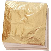 65db3c172 100 Sheets Imitation Gold Leaf for Art, Crafts Decoration, Gilding  Crafting, Frames,