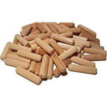 Pack of 200 Wooden Straight Fluted Dowel Pins Come with Handy Jar KINGOU Wood Dowel Pins Standard 3//8 x 1 1//2
