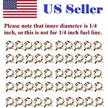 uxcell Double Wire Motorcycle ATV 6mm Fuel Line Silicone Hose Tube Spring Clips Clamp Zinc Plated 20Pcs