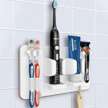 Save Space OAPRIRE Electric Toothbrush Holder Wall Mounted Set of 4 White, 4 Adhesive Tooth Brush Holder Make Washroom /& Bathroom Tidy Fast Drying
