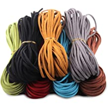 3 Colors Whaline 33 Yards Suede Cord Faux Leather Cord String Rope Thread for Bracelet Necklace Beading Jewelry DIY Crafts