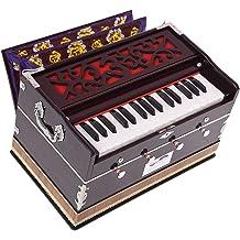 Harmonium Pro Grade By Kaayna Musicals 440 Hz Best for Yoga Bhajan Regular Bellow Teak Colour 11 Stop- 6 Main /& 5 Drone Shruti Meditation Chant Kirtan 3/½ Octaves Mantra Gig Bag Coupler