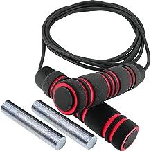 Core Strength and Endurance VA3631BK Coordination Valeo Deluxe Adjustable Speed Jump Rope To Improve Balance Flexibility