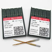 100 Groz-Beckert 134 135X5 DPX5 SY1955 Gebedur Titanium Sewing Machine Needles Size 12 metric 80