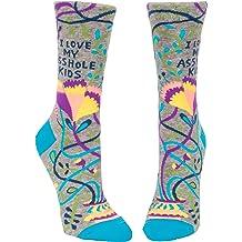 Blue Q Women/'s Crew Funny Socks OSFA multicolor You crafty B***