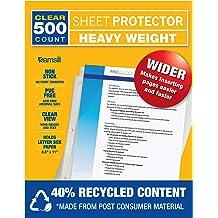 Reinforced 7-Hole 5.5 x 8.5/' 25  Mini Heavyweight Sheet Protectors Top Loading