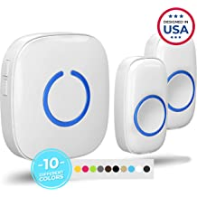 White Compatible with All SadoTech Expandable Series Long Range Wireless Doorbell Chime Alert System SKYPOINT Extra Add-On Magnetic Mini Door Sensor or Window Sensor