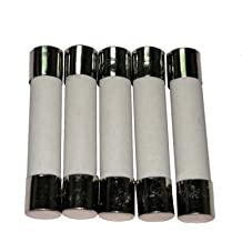 5 Pcs Hxchen Ceramic Fuse 0.5A Cartridge Fast Blow Tube 250V 5x20mm for Power Strip Experiment Circuit Appliance Repair